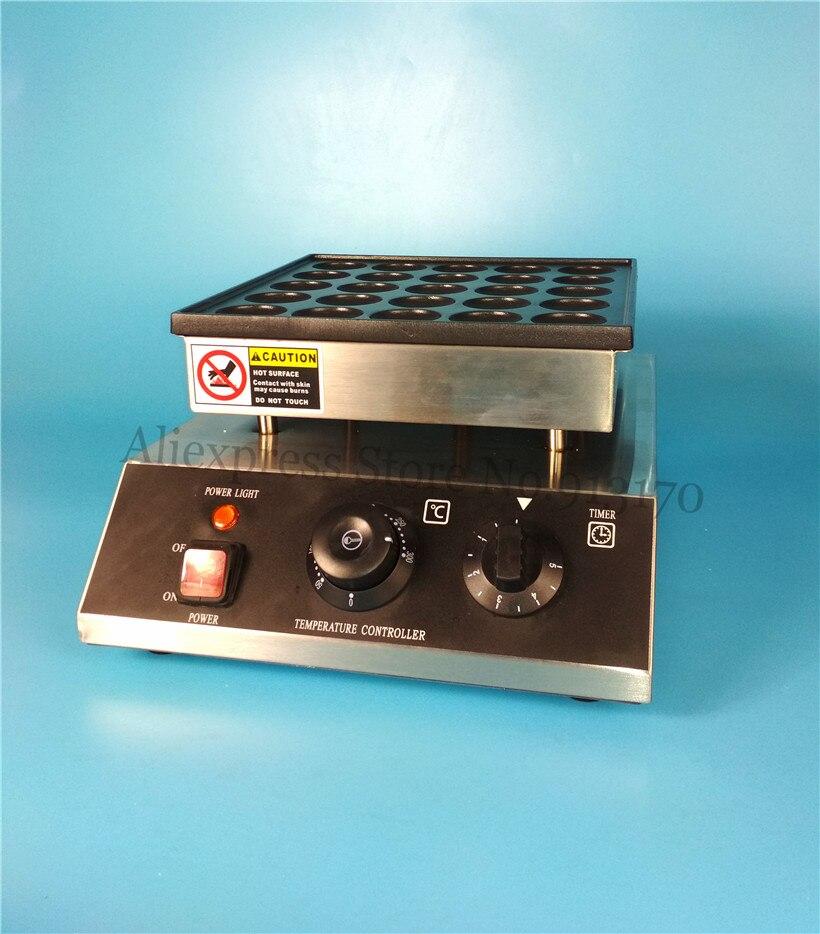 Electric Dutch Poffertjes Machine 2pcs/lot 950W 25 Holes Mini Pancake Grill Nonstick Cooking Surface with Timer