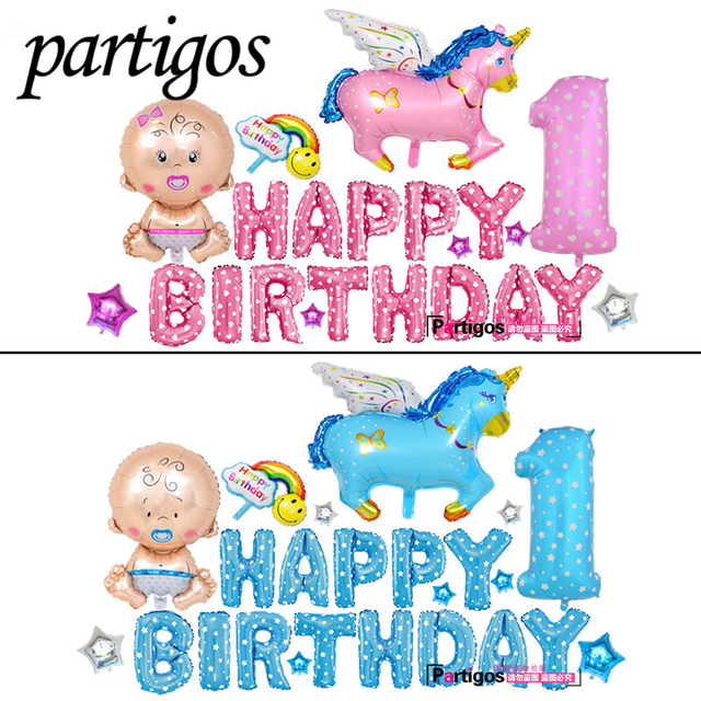24pcs Lot Flying Horse Theme Birthday Party Supplies Decoration 16 Inch Letters Boygirl One