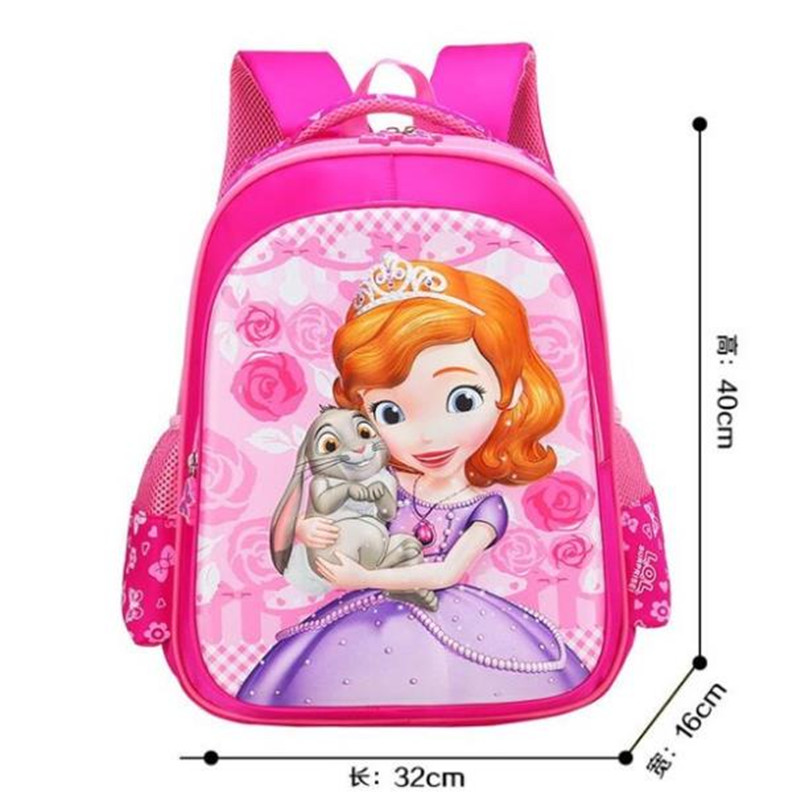 New Sofia The First Princess Sofia Backpack School Bags For Kids Girls Children Primary School Book Bag Schoolbag Elementary
