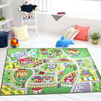 yazi 9PCS Cartoon Puzzle Mats Transport Line Design EVA Foam Children Play Mat Large Floor Carpet Area Rug Home Decor in Carpet from Home Garden
