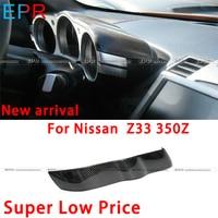 EPR Car Accessories For Nissan 350Z Z33 Carbon Fiber Dial Dash Cover Fibre Glossy Interior Trim Racing Garnish Body Kit