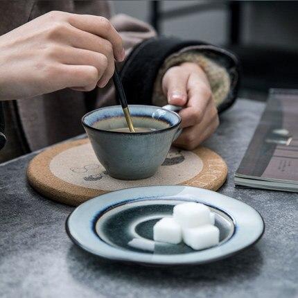 Creative coffee cup teapot sugar tea milk jug ceramic cup and Saucer Set