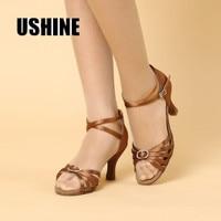 Miễn phí Chuyển Màu Nâu Đen Stain Giày Khiêu Vũ Latin Phụ Nữ Zapatos Salsa Mujer Giày Khiêu Vũ Zapatos De Baile Latino Mujer 218B