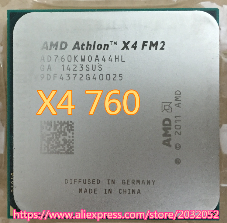 FM2 quad-core CPU 3.8G official version Product pictures are sameX4 760 can work