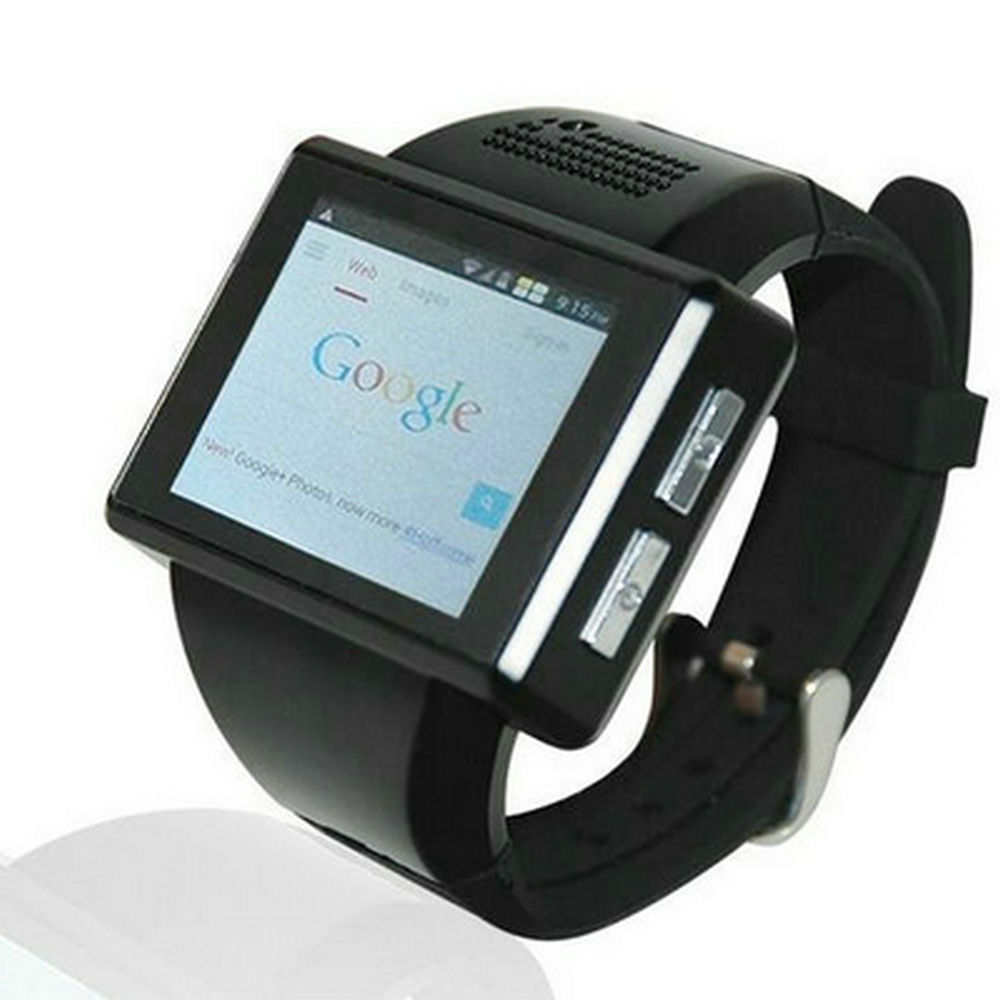New Black AN1 Android 4 1 Smart Watch Phone Dual Core 2 0 Inch Touch Screen