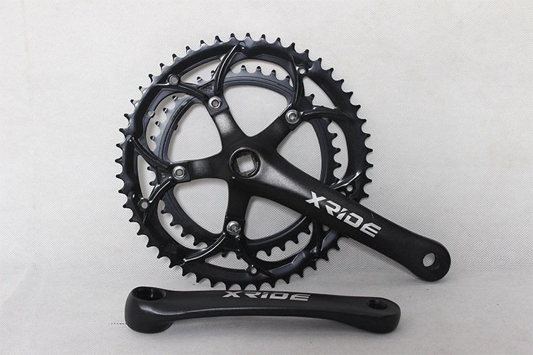 XRIDE 39-52T road bicycle folding bike crankset crank 2 gear bicycle parts Bicycle Crank  Chainwheel road bicycle crankset 7 8 9speed folding bike crank chain wheel 34t 50t cnc aluminum alloy gear tooth disc with bottom bracket
