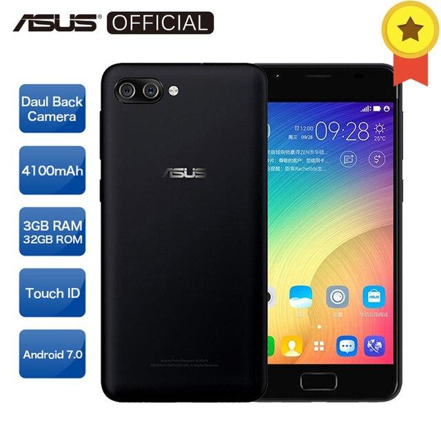 Asus ZenFone 4 max Peg asus 4A ZB500TL 4 ядра MT6737 Доль сзади Камера 13MP + 8MP телефона Android 7,0 3 ГБ Оперативная память 32 ГБ Встроенная память 4100 мАч