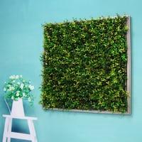 ULAND 55x55cm 3D ArtificialPlantFramedWallArt Photo Frame Decorative Hanging Plastic Fake Plants for Home Office Workshop