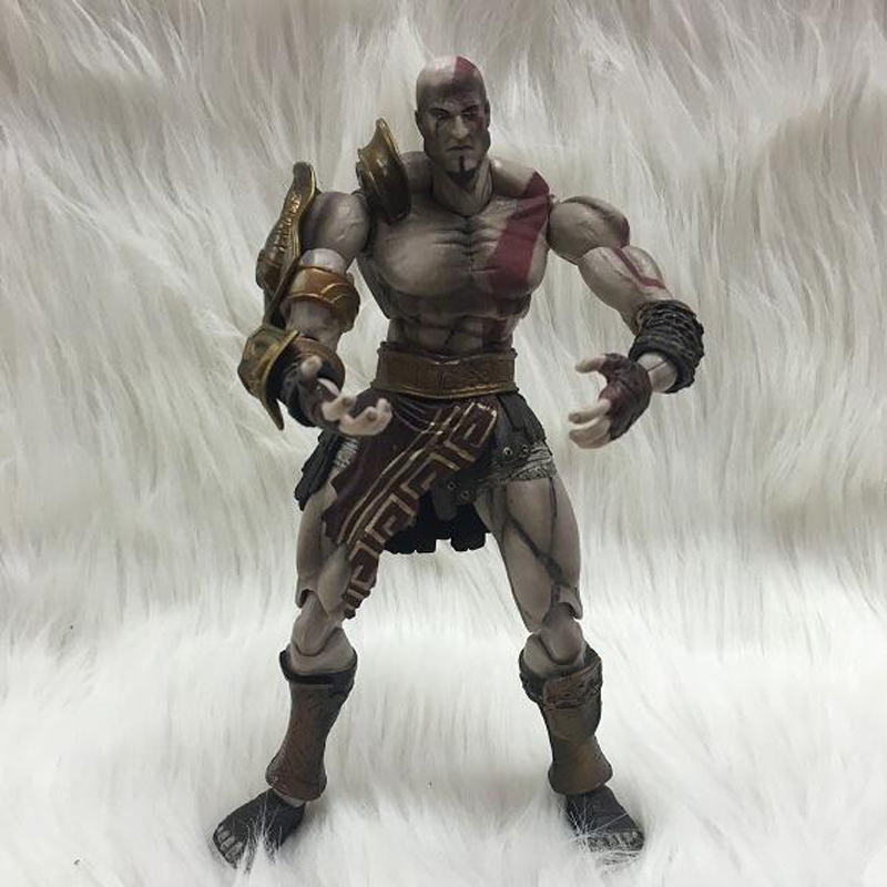 Japan SQUARE ENIX PlayArts KAI God of War Kratos PVC children anime cartoon gifts doll Action Figure Collectible Model Toy T5826 new brand cnc aluminum motorcycle rear fork brake calipers pump 220mm adapter code 220mm brake disc universal accessories
