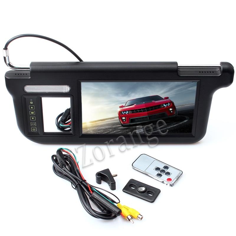 MZORANGE 1 piece 9 inch TFT LCD Car Sun Visor Monitors Display left or right beige black grey 2 Ways Video Input car monitor-in Car Monitors from Automobiles & Motorcycles    2