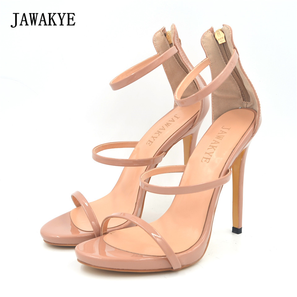 81302278c41 JAWAKYE-Sexy-Design-three-Narrow-Band-Peep-Toe-Super-High-Heel-Shoes -Women-Ankle-Strap-Cover.jpg
