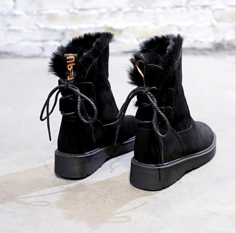 Tobillo gris Piel E405 Detrás Caliente Señoras Invierno Nieve Mujeres  Algodón Peluche Las Botas De Mujer Negro Encaje Casuales Zapatos SqgSUr c10d5a5d3acf