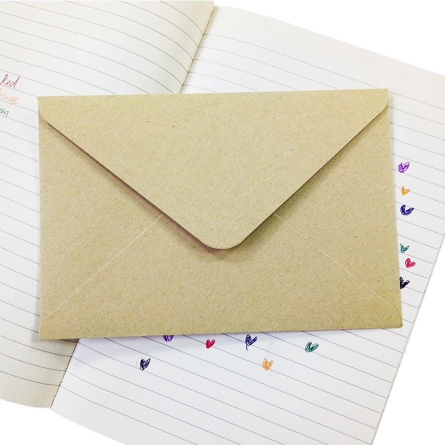 50pieces Rough grain gift card DIY Multifunction  Kraft  paper envelope  16*11cm Gift card envelopes for wedding birthday party 4