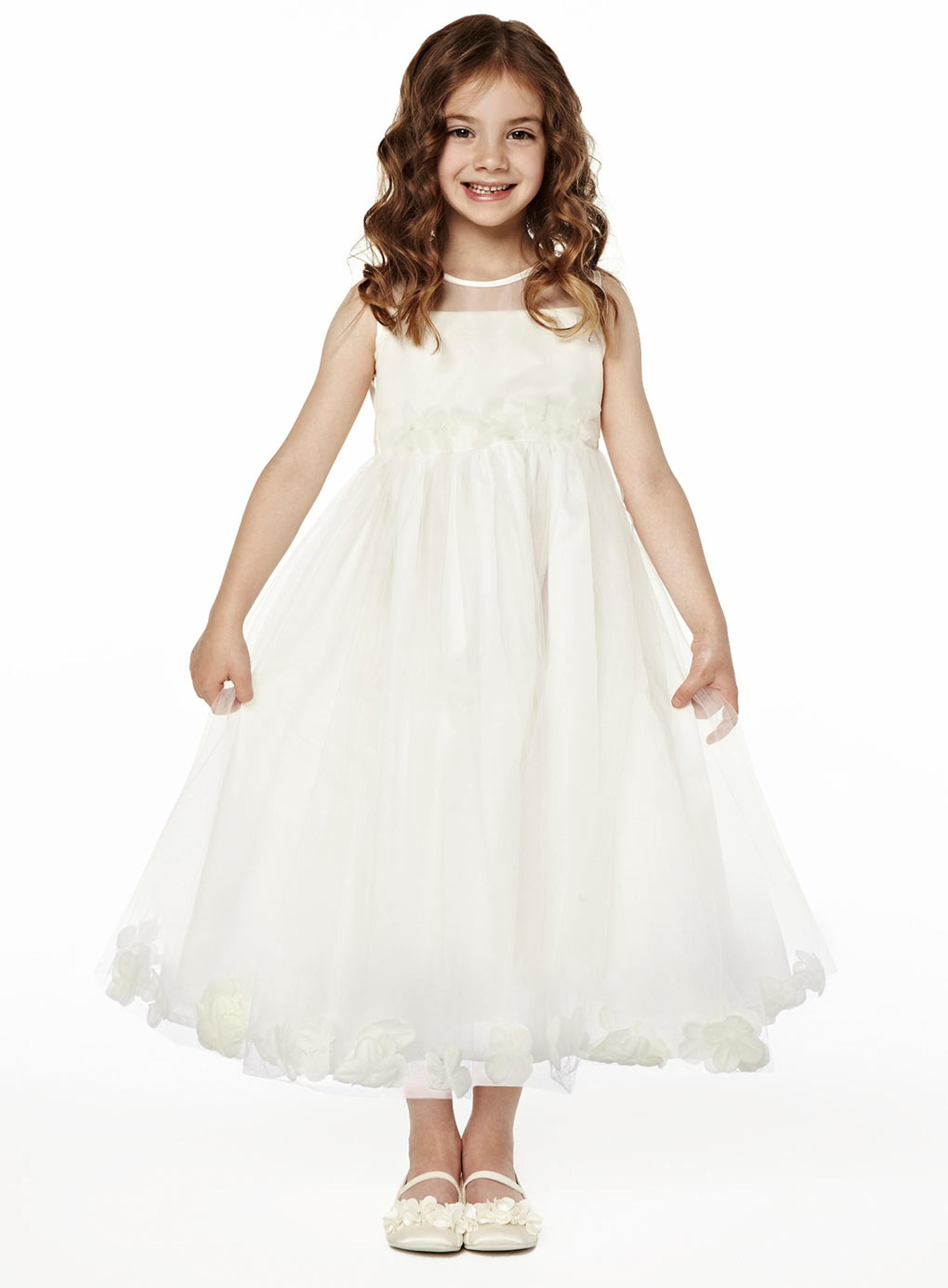 A-Line Flower Girl Dresses For Wedding Gown Ankle-Length Mother Daughter Dresses Tulle Holy Communion Dresses With Hade Make Bow 2017 new flower girls dresses for wedding gown ball gown vintage communion dresses ankle length mother daughter dresses with bow