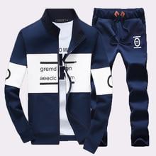 5XL Plus Größe 2016 Neue Herbst Sportswear Fashion männer Casual Anzug Trainingsanzug Mann Mantel Männlich Sweatshirts Sets