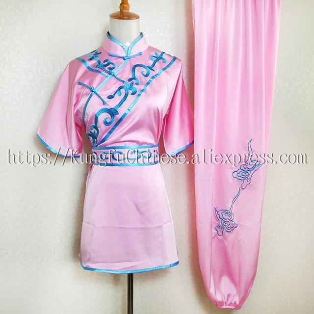 Chinese wushu uniforme abbigliamento Kungfu arti Marziali vestito changquan  costume ricamato per uomo donna bambino bambina d2a7e33be07