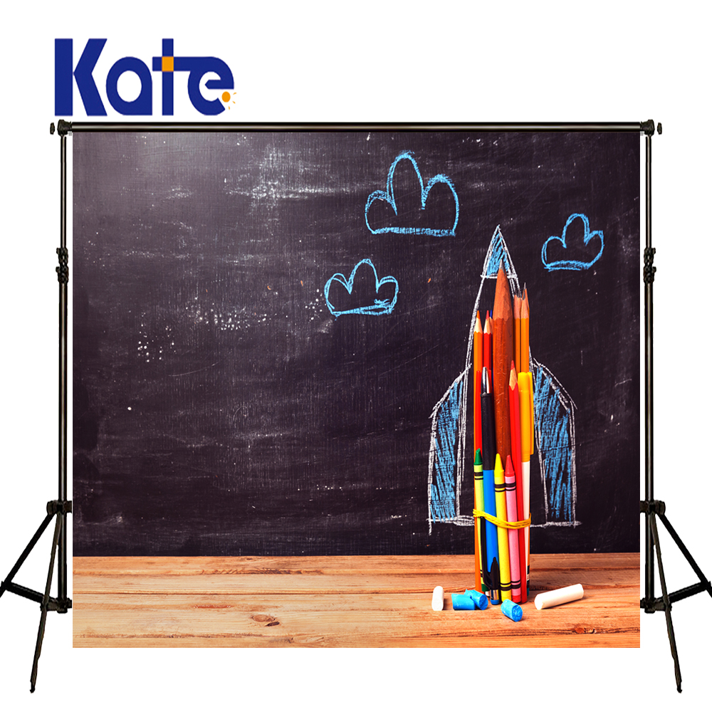 KATE Photography Backdrops Pizarra Tiza Background Back To School Wood Backdrop Children Background Atrezzo Fotografia Infantil