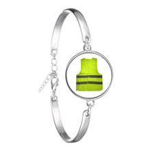 Creative Yellow Vest Chain Bracelet The Gilets Jaunes Protests Perfect Souvenir Idea Men Mouvement des gilets jaunes Bangle(China)