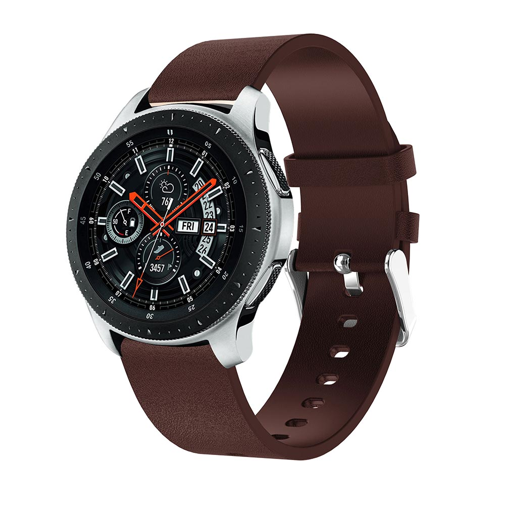 Replacement Watch band Leather wrist for Samsung Galaxy Watch 46mm Watchband Strap Bracelet Belt For Huami Amazfit 2 2S Stratos in Watchbands from Watches