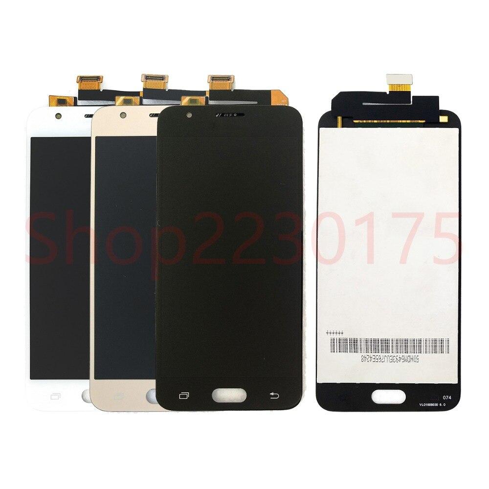 Para Samsung Galaxy J5 Prime G570F G570K G570L G570 SM-G570F LCD Screen Display Toque Digitador Assembléia Peças de Reposição