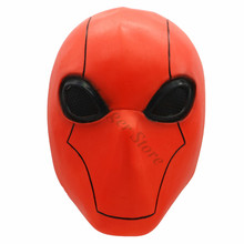 Injustice League 2 Helmet Game Cosplay Props Red Hood Full Head Latex Mask Halloween Costume Accessories цена и фото