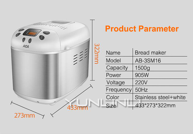 Multifunctional Bread Machine and Oven-Automatic Kneading-Rising-Baking Bread Maker-7