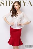 New Paiya Spring Europe Women Leisure Gauze Cloak Coat Pleated Shirt Loose Temperament