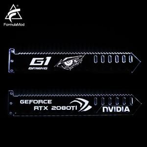 Image 3 - FormulaMod Fm QJD, RGB GPU בלוק אקריליק סוגריים, דקורטיבי צלחות GPU מחזיק, 5 v 3Pin RGB Synchronizable האם תאורה