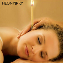 40 kpl Coning Beewax Natural Ear Kynttilän Ear Candling Therapy Suora Style Ear Care Thermo-Auricular Therapy Face Lift Tool