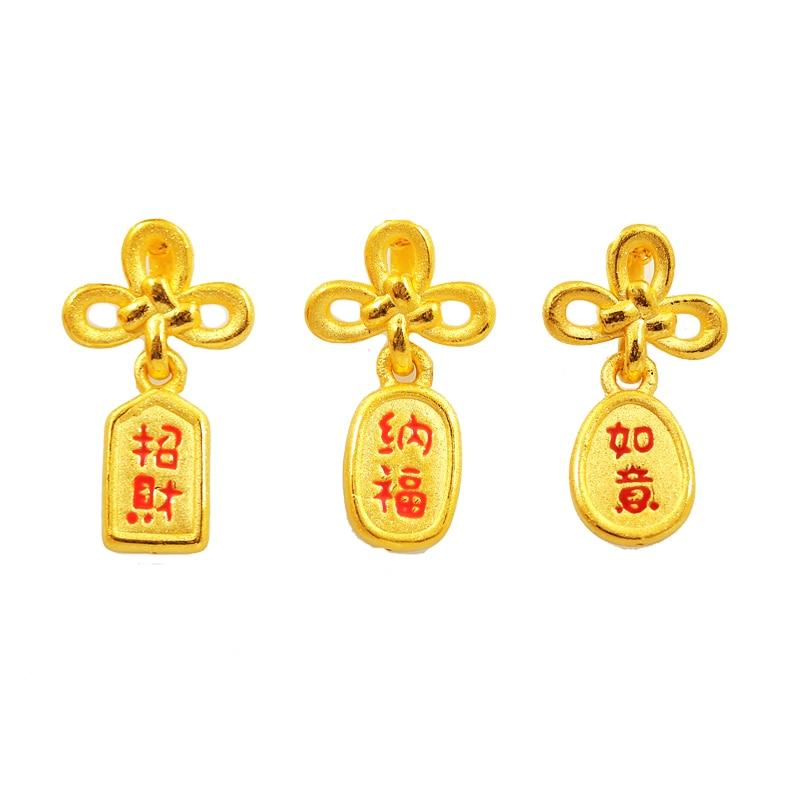 Pure 24K Yellow Gold Bracelet Women 999 Gold Bowknot Bracelet Bring Lucky все цены