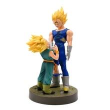 2Pcs/Lot Dragon Ball Z Dramatic Showcase 4th Season Super Saiyan Vegeta and Trunks Anime Action Figure Collectible Model Toys