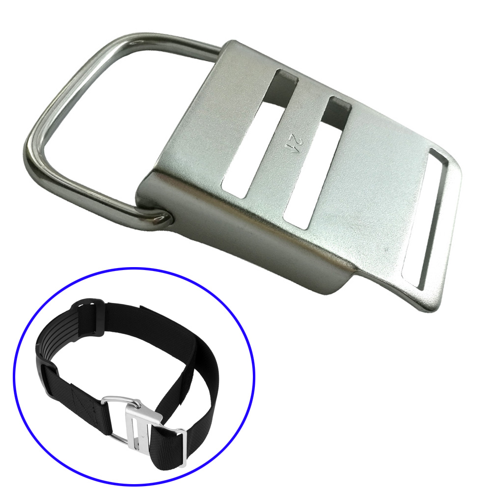 304 Stainless Steel Scuba Dive BCD Cylinder Tank Strap Cam Lock Buckle Replacement Fits Diving Standard 5cm Belt