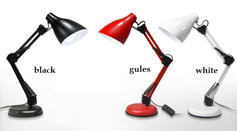 ФОТО LED American students eye health lamp bedside lamp iron folding lamp / black, red, white