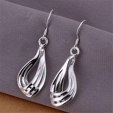 Женские серьги серебряного цвета Изысканный свадебный подарок