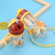 230/450 мл Милая Детская кружка для кормления с соломой BPA бесплатно дети учатся для кормления питья ручка Детские Бутылочки для воды учебный Поильник
