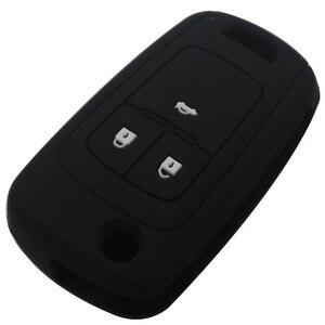Image 5 - Jingyuqin uzaktan silikon araba anahtarı durum kapak için Chevrolet Cruze tutucu 3 düğme kauçuk çevirme katlanır anahtar koruyucu