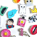 1 PCS cartoon Icon Free Shipping Kawaii Icons Harajuku Acrylic Pin Badge Backpack Decoration Badges