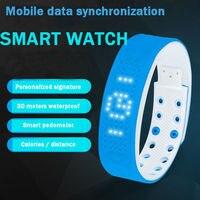 TW2 LED Digital Sports USB Smart Watch Silicone Band Calorie Sports Pedometer Fashion Kids Women Men