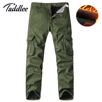 Taddlee Brand Men S Cargo Pants Winter Keep Warm Casual Camouflage Multi Pocket Pants Long Military