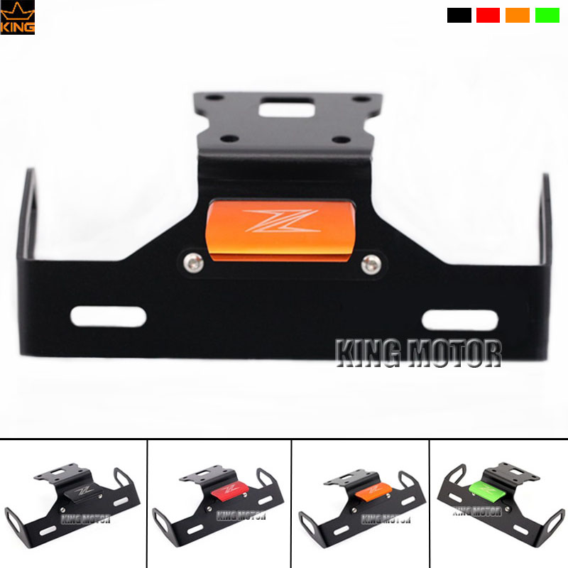 For KAWASAKI Z125 Motorcycle Accessories Tail Tidy Fender Eliminator Registration License Plate Holder Bracket LED Light Orange motorcycle tail tidy fender eliminator registration license plate holder bracket led light for ducati panigale 899 free shipping
