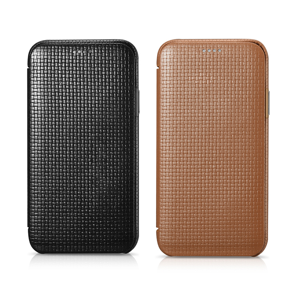 icarer for iPhone Apple X Case Curved Screen Flip Cover for iPhone XS Skin Genuine Leather Cowhide Shockproof Back Phone Case (7)