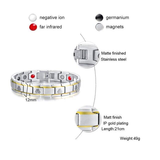 Bracelet Viking Rune magnétique thérapie  3