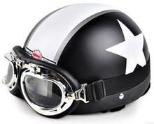 Leisure style Motorcycle Helmet popular helmet with goggles 22 color available novelty helmet