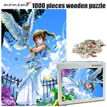 MOMEMO Owl and Girl Adult Jigsaw Puzzle 1000 Piece Wooden Exquisite Cartoon Pattern 500/1000 Pieces Landscape Puzzles Toy