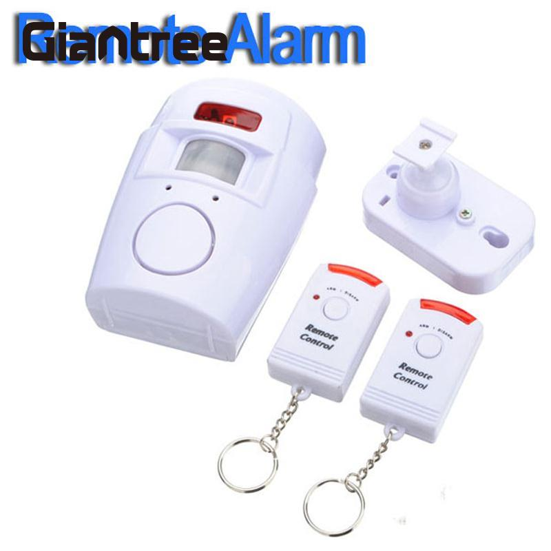 giantree Infrared detection PIR Sensor Wireless Motion Detector Intruder Alarm Alert +2 Remote Control 105 dBgiantree Infrared detection PIR Sensor Wireless Motion Detector Intruder Alarm Alert +2 Remote Control 105 dB