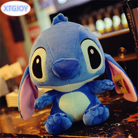 1Pcs Kids 35cm Blue Or Pink Stitch Plush Toys For Child Christmas Children Gift Birthday Present