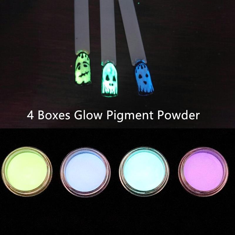 Sanft 7 Farben Nagel Leuchtstoff Pulver Diy Helle Glow In The Dark Sand Pulver Pigment Staub Luminous Nail Art Glitter Pulver Schönheit & Gesundheit Nails Art & Werkzeuge