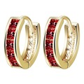 2016 American And European  Gold Plated With Full Elegant White/  Crystal Zirconia Hoop Earrings For Women Gold Earrings