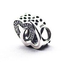 Entrelazados amor corazón cupieron pandora encantos de plata 925 pulseras originales mujeres bijouterie para la fabricación de joyas de bricolaje regalos