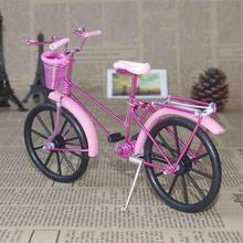 Antique Bicycle Bike Model Figurine Miniature Metal Craft Home Decoration VIntage Children Birthday toy Gifts A35